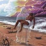 Притча «Следы на песке»