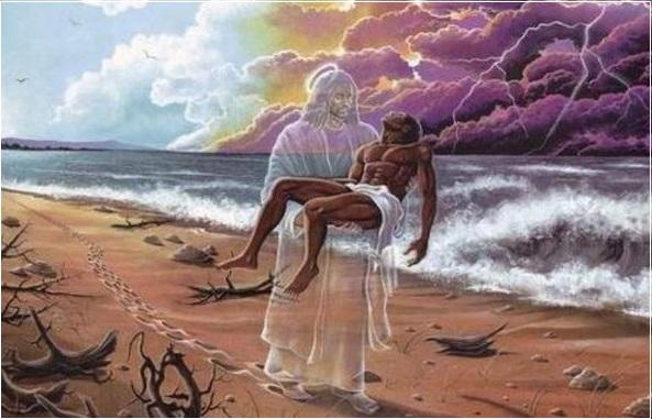 Притча Следы на песке